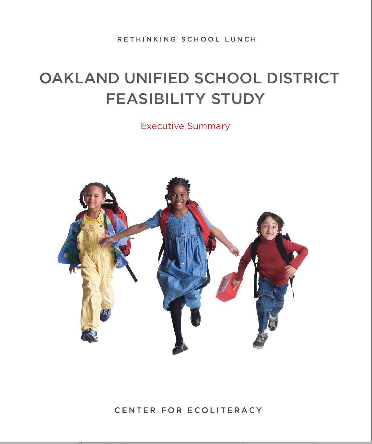 Rethinking School Lunch Oakland Feasibility Study cover