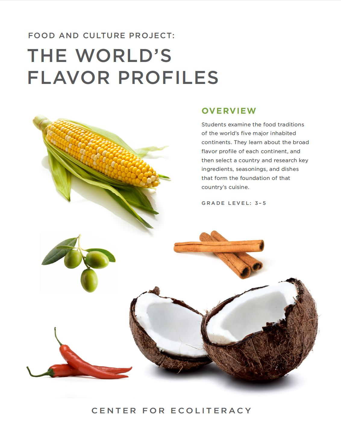 Food and Culture Project: The World's Flavor Profiles Lesson cover