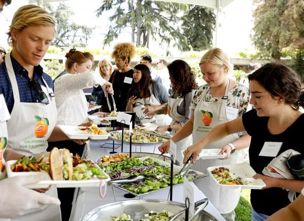 lunch dishes made by hands-on cooking in teams