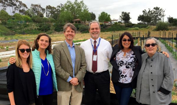 Farm Lab and Center for Ecoliteracy staff meet in the certified organic 10-acre garden in Encinitas.