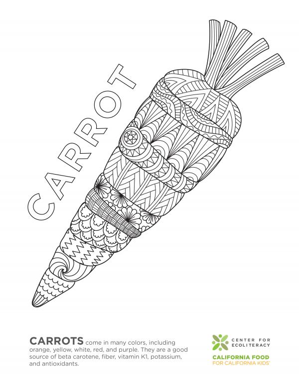 Fruits And Vegetables Coloring Pages Ecoliteracy Org