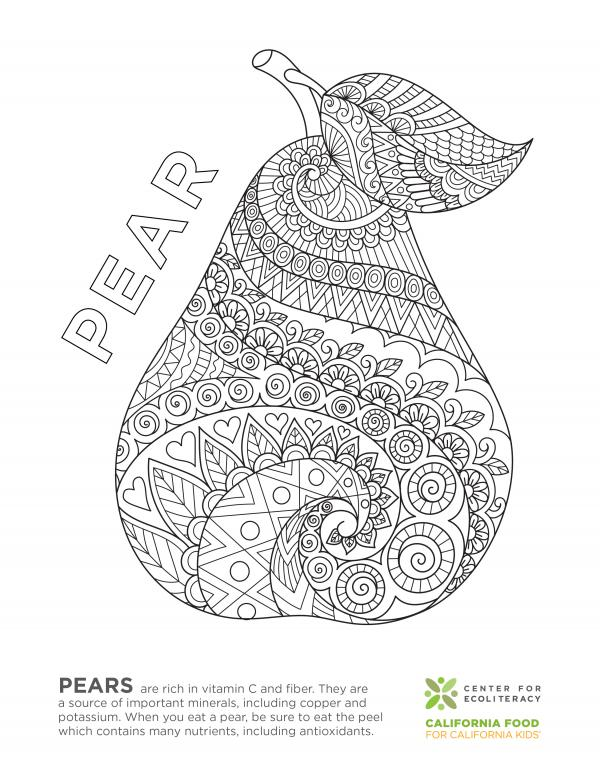 Fruits And Vegetables: Coloring Pages Ecoliteracy.org