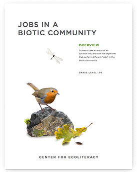 Jobs in a Biotic Community