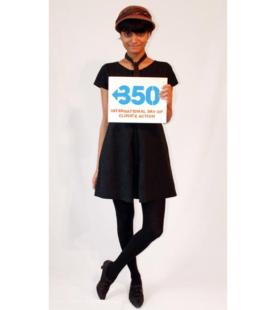 black dress with 350 sign